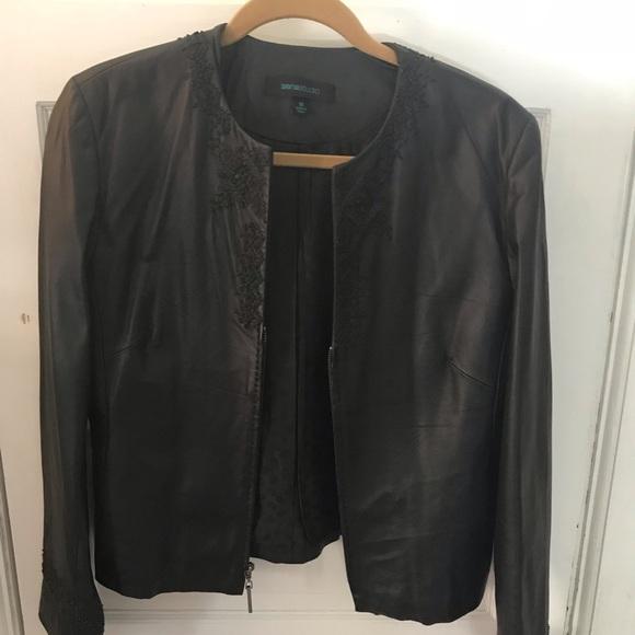 a7a5bcc3f Siena studio black leather jacket